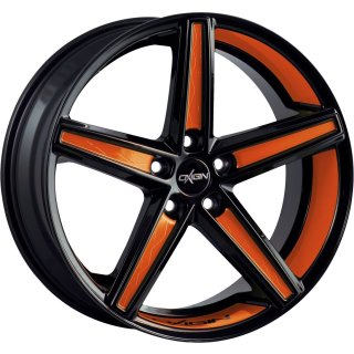 Oxigin 18 Concave 7.5x19 ET37 5x112 black foil orange