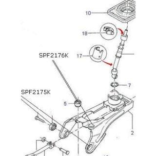 Superpro Ford Sierra, Granada Modell 3, Scorpio Sierra / Escort Cosworth P100 front Gangschaltungshalterung/-gestell unten - Buchsen VA SPF2175K
